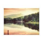Price Lake sunset in North Carolina Canvas Print