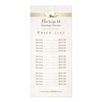 Price List | Massage Therapy Elegant Lotus Salon Rack Card