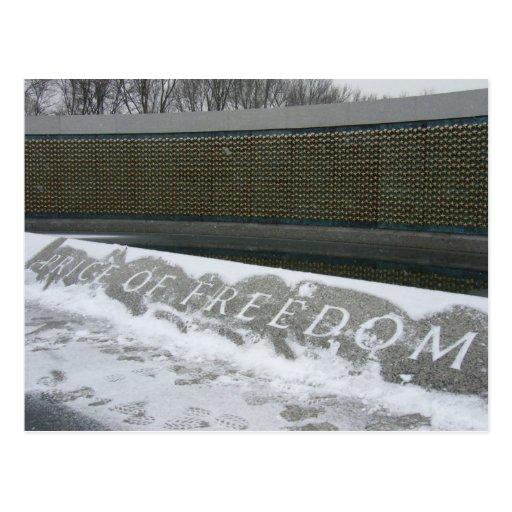 price of freedom postcard