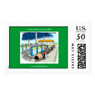 Price Of Gas Funny Cartoon Real US Postage Stamps