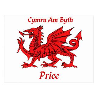 Price Welsh Dragon Postcard