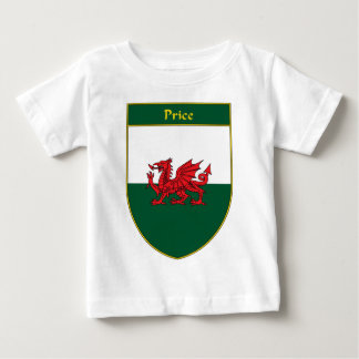 Price Welsh Flag Shield Baby T-Shirt