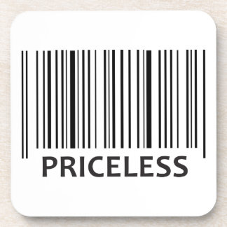 PRICELESS BAR CODE BEVERAGE COASTERS