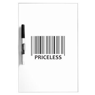 PRICELESS BAR CODE Dry-Erase WHITEBOARD