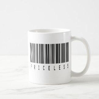 priceless barcode coffee mug