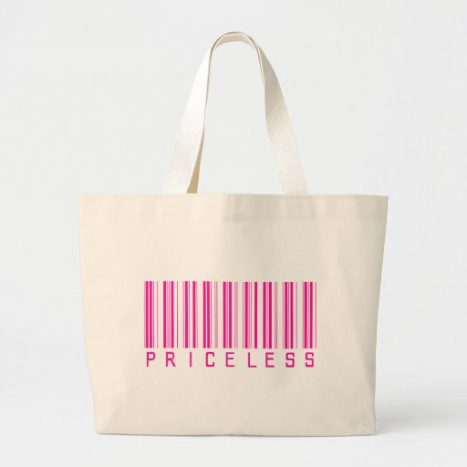 Priceless Barcode Large Tote Bag