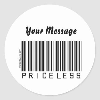 'Priceless' Barcode Sticker (Personalize)