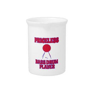 priceless bass drum  designs beverage pitchers