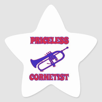 priceless cornetist designs star sticker