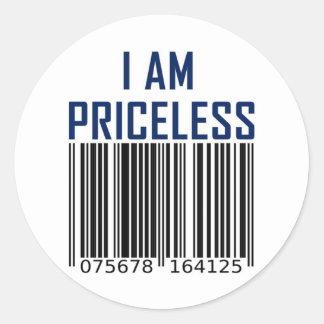 Priceless Full Classic Round Sticker