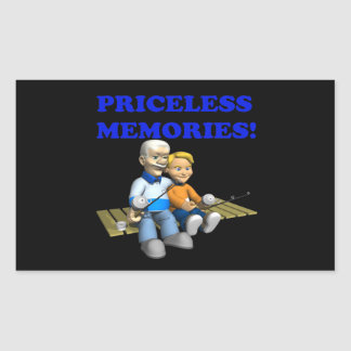 Priceless Memories Rectangular Sticker