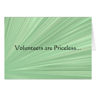 Priceless Volunteers Stationery Note Card