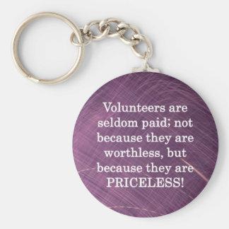 Priceless Volunteers Keychain