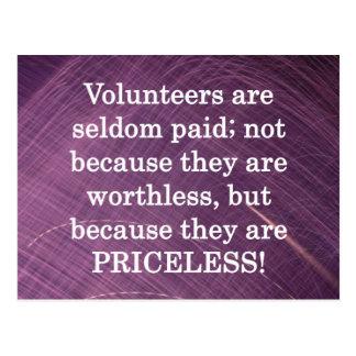 Priceless Volunteers Postcard