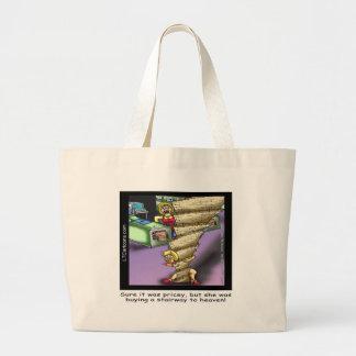 Pricey Heavenly Stairway Funny Large Tote Bag