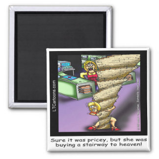 Pricey Heavenly Stairway Funny Magnet