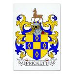 """Prickett Coat of Arms I 3.5"""" X 5"""" Invitation Card"""