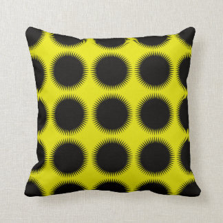 prickle dots: yellow throw pillow