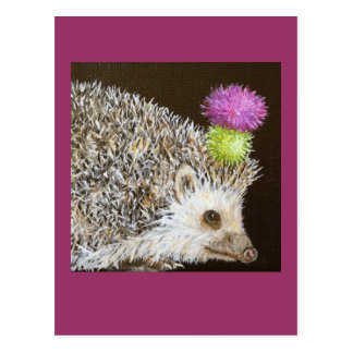 prickle the hedgehog w/ party thistle hat postcard