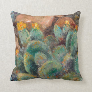 Prickley Pear pillow with Sedona Red Rocks