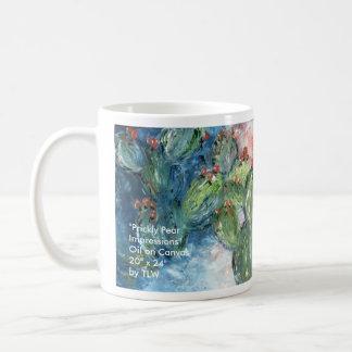 """Prickly Impressions, Prickly Impressions, """"Pric... Classic White Coffee Mug"""