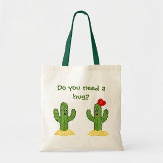 Prickly Pair Cartoon Cactus Guy & Gal Tote Bag