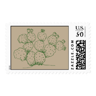 Prickly Pear Arizona Cactus Postage