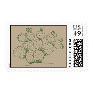 Prickly Pear Arizona Cactus Stamp