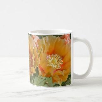 Prickly Pear Blossoms Classic White Coffee Mug