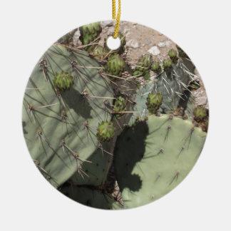 Prickly Pear Buds Ceramic Ornament