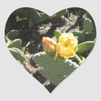 Prickly Pear Bunny Heart Sticker