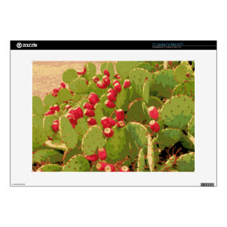 """Prickly Pear Cactus 15"""" Laptop Decal"""