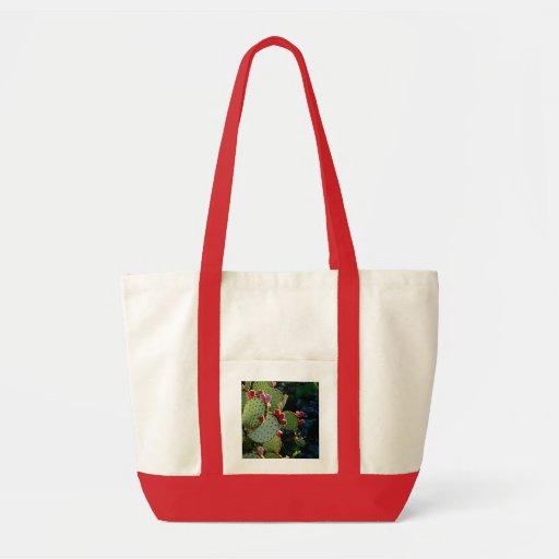Prickly Pear Cactus Canvas Bags