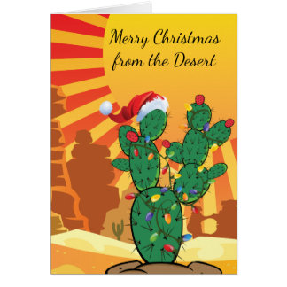 Prickly Pear Cactus  Christmas Card