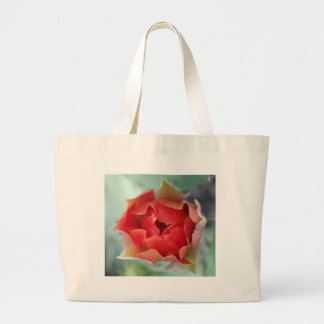 Prickly Pear Cactus Flower Tote Bags
