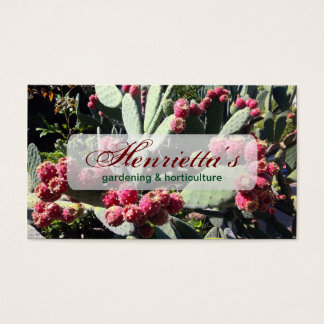 Prickly Pear Cactus Fruit Nature Fine Art Business Card