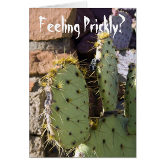 Prickly Pear Cactus Get Well Card