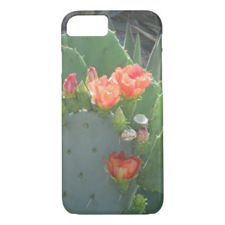 Prickly Pear Cactus Green Red Bloom iPhone 8/7 Case