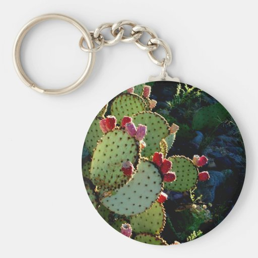 Prickly Pear Cactus Key Chains
