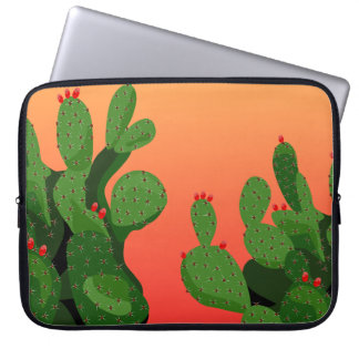 Prickly Pear Cactus Neoprene Laptop Sleeve
