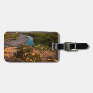 Prickly Pear Cactus (Opuntia Sp.) Luggage Tag