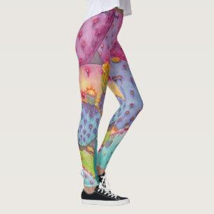 ce258356cb Prickly Pear Cactus Pants Art Workout Leggings