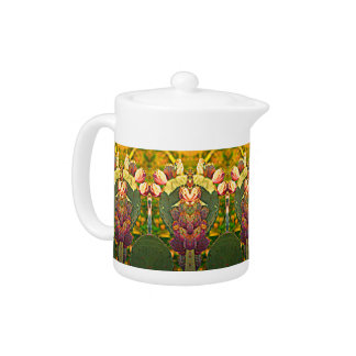 Prickly Pear Cactus Tea Pot