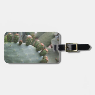 Prickly Pear Cactus with Buds Luggage Tag