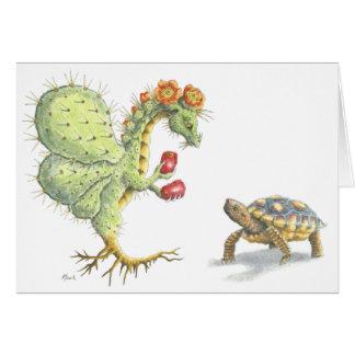 Prickly Pear Flower Dragon (card) Card