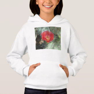 Prickly Pear Green with Red Bloom Hoodie
