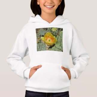 Prickly Pear Green Yellow Bloom Hoodie