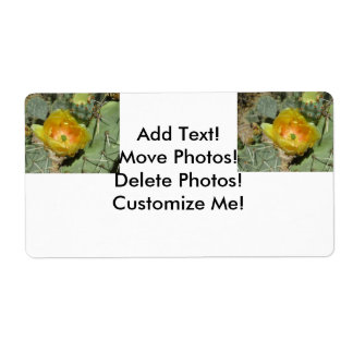 Prickly Pear Green Yellow Bloom Label