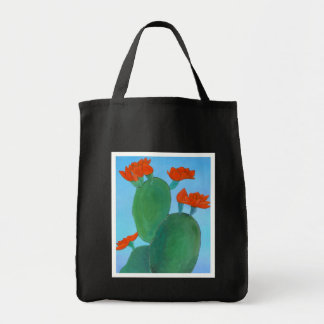 Prickly Pear in Bloom Canvas Bag