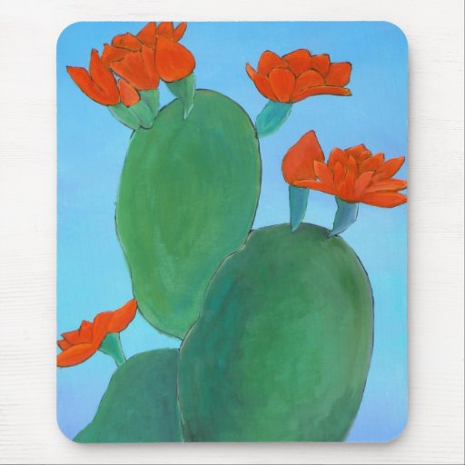 Prickly Pear in Bloom Mousepad